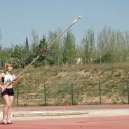 Carol Arroyo assolint mínima pel campionat d'Espanya.