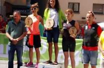 Ana Ruiz i Toni Agut fan podi a la UC Trail Cerdanya
